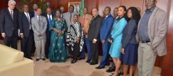 Amb. Kwesi Quartey Receives a Team of Ten Recruitment Experts